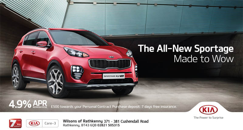 Test Drive the All new Kia Sportage at Wilson's of Rathkenny Kia