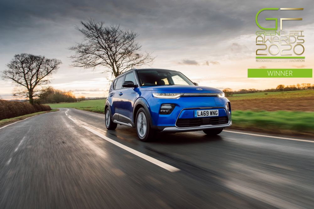 KIA HAILED AS GREENFLEET'S 2020 'EV MANUFACTURER OF THE YEAR'