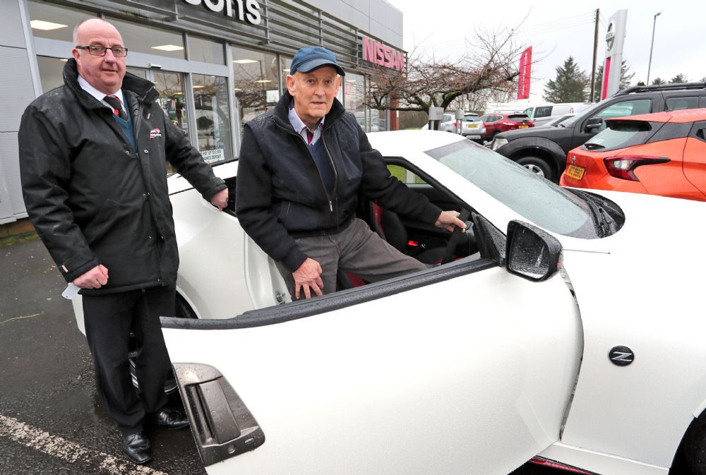 Bertie collects his 22nd Nissan Z-car from Wilsons of Rathkenny