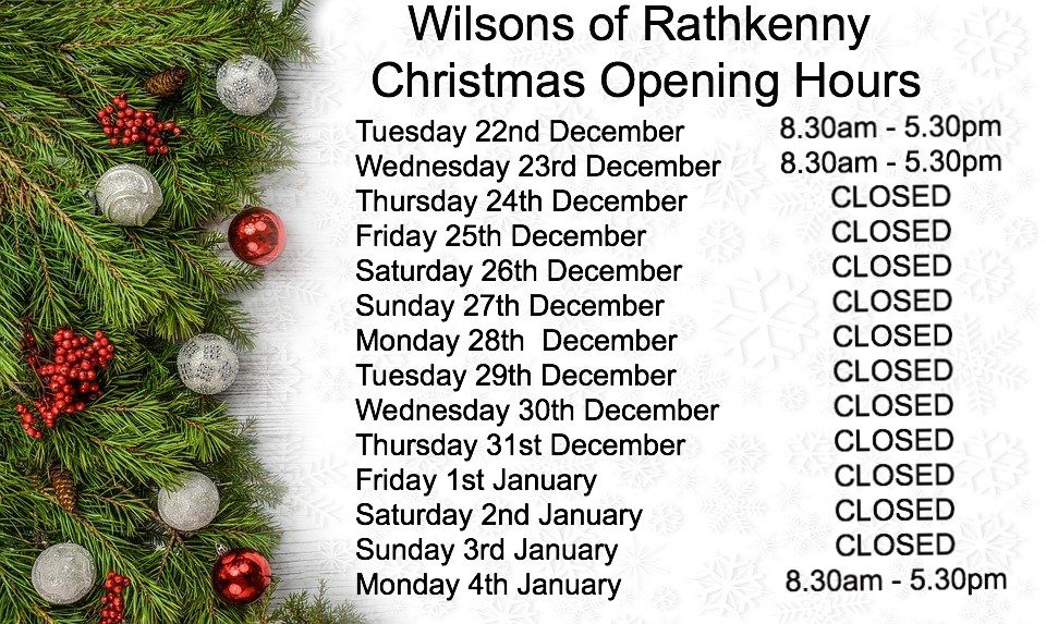 Christmas Opening Hours🎅🎄