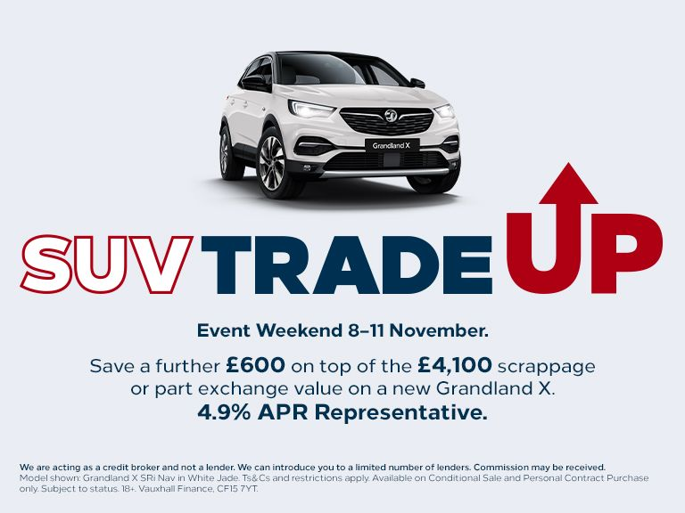 SUV Trade Up Event Weekend 8-11 November