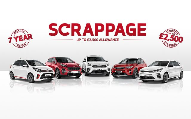 The popular Kia Scrappage Scheme continues until 30th June 2020