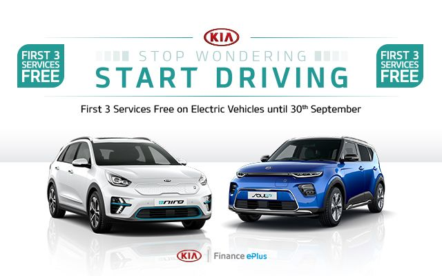First 3 Services Free on Kia Electric Vehicles