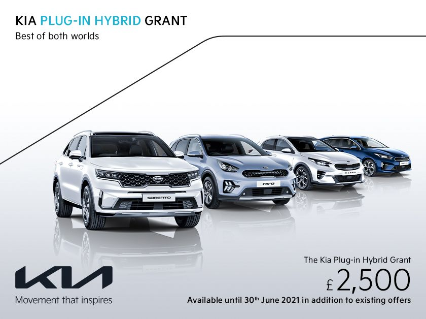 The Kia Plug in Hybrid Grant - £2,500
