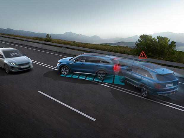 All-new Sorento is the first Kia to come with the potentially life-saving Multi-Collision Braking System as standard