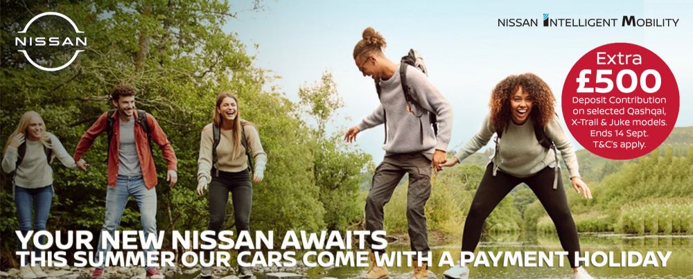 Get an extra £500 deposit contribution towards your new car during Nissan's summer sales event