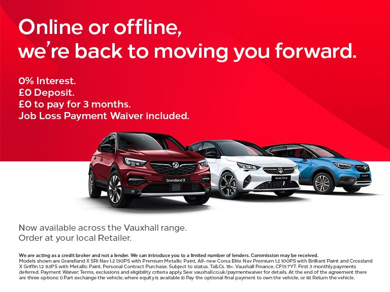 0% APR and £0 Deposit across the Vauxhall range