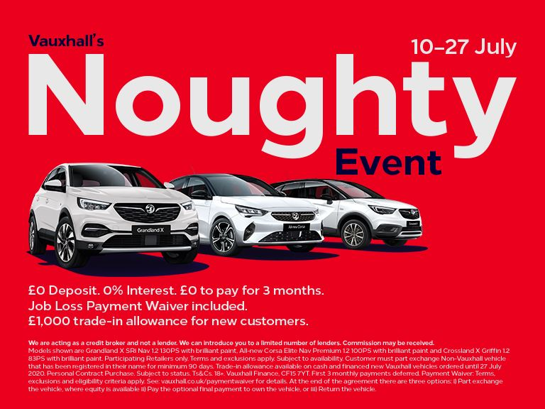 The Vauxhall 'Noughty' Event is now on!