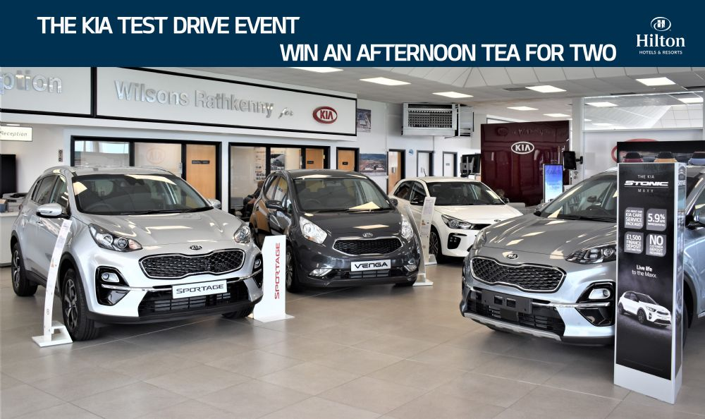 The Kia Test Drive Event - Only at Wilsons of Rathkenny