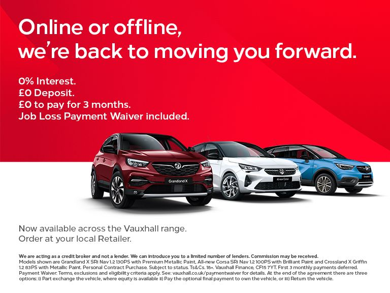 0% APR and £0 Deposit across the Vauxhall Range until July 2nd 2020