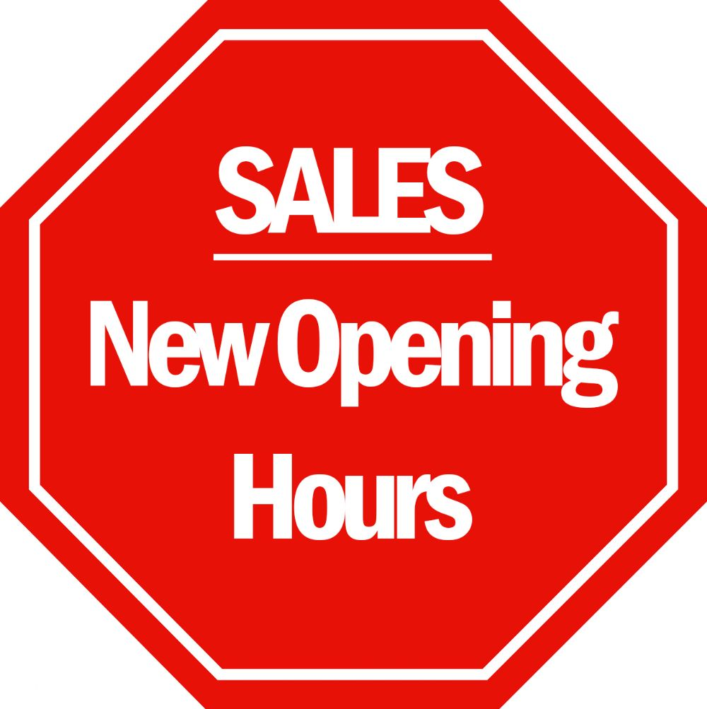 New Opening Hours for Sales