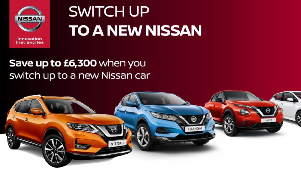 Save up to £6,300 when you Switch Up to a new Nissan