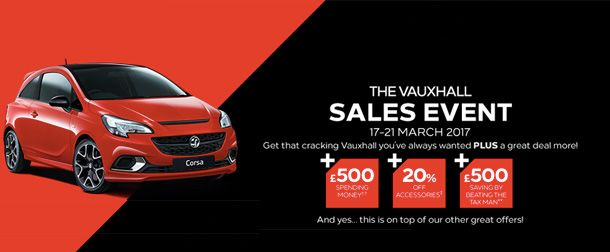 Vauxhall Sales Event - 17-21 March
