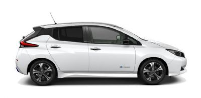 Nissan LEAF TWO-TONE: STORM WHITE BODY WITH PEARL BLACK ROOF AND DOOR MIRRORS