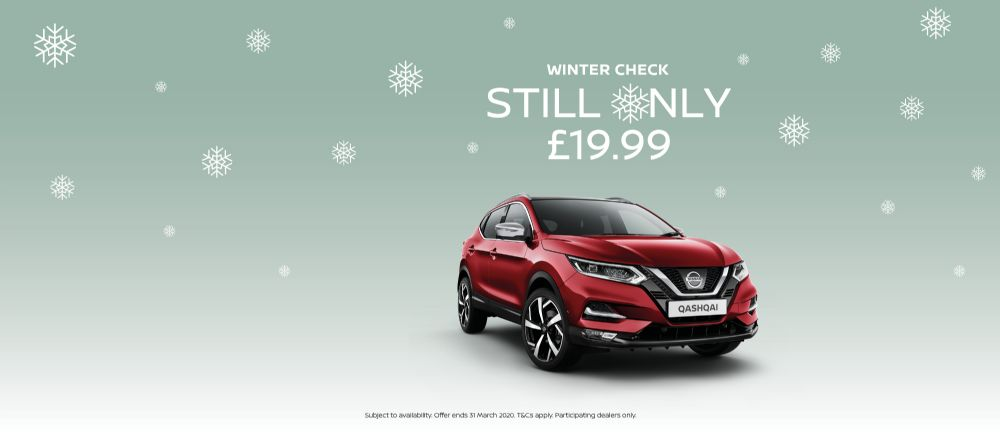 NISSAN WINTER HEALTH CHECK £19.99 PLUS SCREEN WASH TOP UP